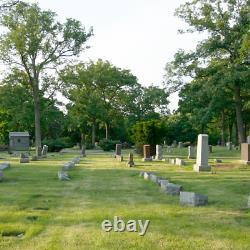 (1) Burial Interment Plot Grave Parkholm Cemetery LaGrange Park, Illinois