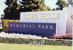 1 grave plot at Rose Hills Memorial Park, Whittier, CA