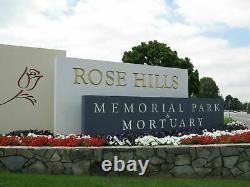 2 Adjoining Rose Hills Memorial Park Cemetery Plots