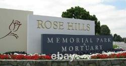2 Adjoining Rose Hills Memorial Park Cemetery Plots Kirtland Green Sold Out