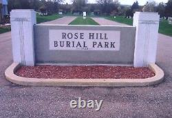 2 Cemetery Plots Rose Hill Burial Park Akron, Ohio Masonic Section
