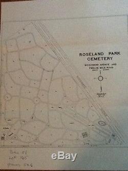 2 Cemetery Plots at Roseland Park Cemetery, Berkeley, Michigan