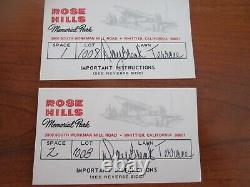 2 burial plots for sale Rose Hills Memorial Park, Whittier, CA. Daybreak Terrace