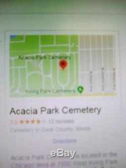 21 Burial Plots in Acacia Park Cemetery in Chicago Illinois