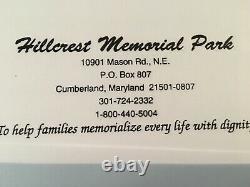 3 Cem. Plots, Cumberland, MD, Hillcrest Mem. Park. Asking $4,500.00