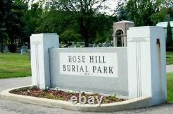 3 Cemetery Plots-rose Hill Burial Park- Akron, Ohio