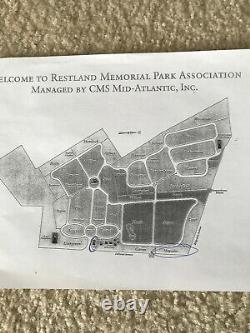 3 Double Cemetery Plots, Restland Memorial Park, E. Hanover, NJ