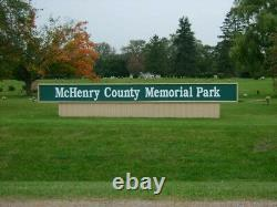 4 Cemetery plots in McHenry County Memorial Park, Woodstock, Illinois