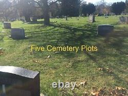 5 CEMETERY PLOTS IN MOUNT ROYAL MEMORIAL PARK CRESCENT PART 3 (Glenshaw, PA)