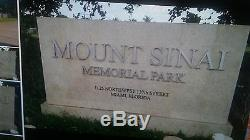 6 prime adjacent Cemetery plots Mount Sinai Memorial Park, Miami, FL