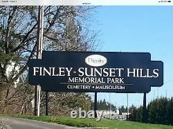 Burial plot in Finley Sunset Hills Memorial Park