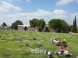 Camarillo Cemetery Double Lawn Cript in the Conjeo Mountain Memorial Park, CA