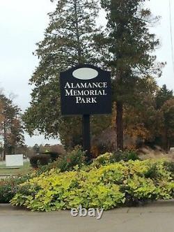 Cemetary Plots Burlington NC, 2 -4200.00 pr. Alamance Memorial Park