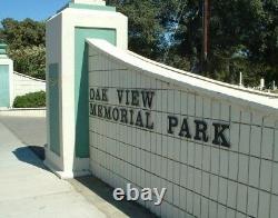 Cemetary plot in Oakview Memorial Park, Antioch CA