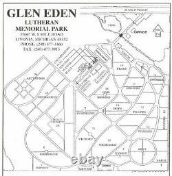 Cemetery Burial Plot (4 Spaces) at Glen Eden Memorial Park Livonia Michigan