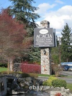 Cemetery Burial Plot in Acacia Memorial Park in Lake Forest Park, Washington