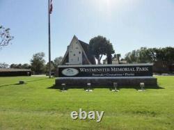 Cemetery/Columbarium Niche at Westminster Memorial Park Accommodates 4 Urns