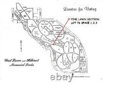 Cemetery Plot #3 Westlawn-Hillcrest Memorial Park, Omaha, Nebraska