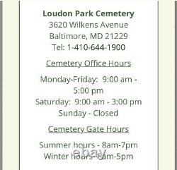 Cemetery Plot For 2 (Double Depth Crypt) at Loudon Park in Baltimore, MD