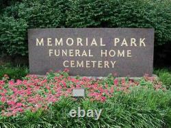 Cemetery plot at Memphis Memorial Park, Memphis, TN