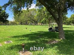 Cemetery plots for sale, Miami Memorial Park, Section A, Lot 581,2,3 + Lot 591