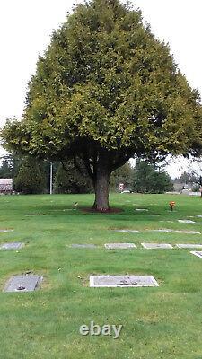 Cypress Lawn Memorial Park 2 cemetary plots in Everett, Washington