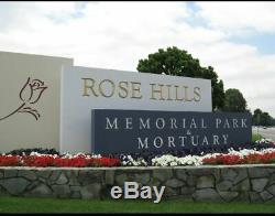 Double Cemetery Plot Rose Hills Memorial Park