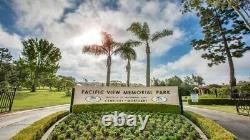 Double Interment plots, Pacific View Memorial Park, Seaview grave E, plots 1415
