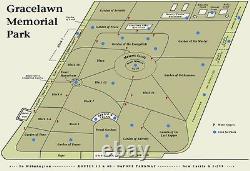 Double depth cemetery plot at Grace Lawn Memorial Park in New Castle, DE