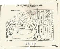 EVERGREEN CEMETERY, 2 Grave Plots for sale, Evergreen Park, Il
