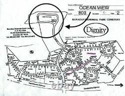 Funeral plot at hawaiian memorial park, plot located facing the ocean