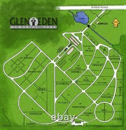 GLEN EDEN MEMORIAL PARK in Livonia, MI Two Plots $2000