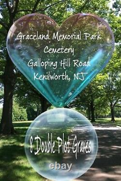 Graceland Memorial Park Cemetery Plots, Kenilworth NJ 8 Double/16 Grave Burials