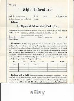 Hollywood Memorial Park, Union, N. J. 4 Adjacent Plots Discount