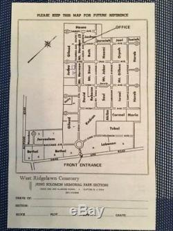KING SOLOMON MEMORIAL PARK, Clifton NJ. 4 Adjacent Jewish Sites. May do 2+2