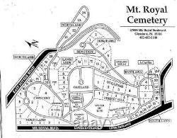 LOT of 2 PLOTS in RIVERIA Part 2 MT ROYAL MEMORIAL PARK CEMETERY GLENSHAW, PA