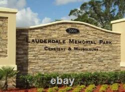 Lauderdale Memorial Park 2 side by side Cemetery Plots in Premium location