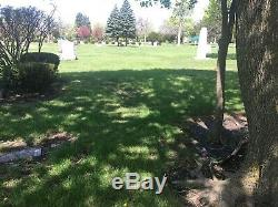 Lot of 10 shaded burial plots in Forest Park Illinois Woodlawn Cemetery