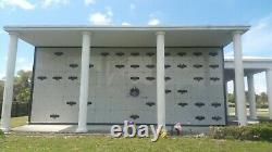 Mausoleum Crypt (Single) Eternal Light Outside Chapel E Daytona Memorial Park