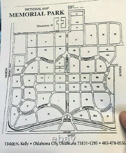 Memorial Park Oklahoma City 2 Burial Plots (not together)