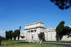 Niche Mausoleum of the Golden West Inglewood Park Cemetery Holds 3 Vessels