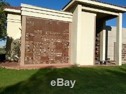 Phoenix Memorial Park single burial niche. Mausoleum of Faith, east side