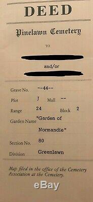 Pinelawn Memorial Park Cemetery Plot Garden of Normandie Greenlawn Space for 2
