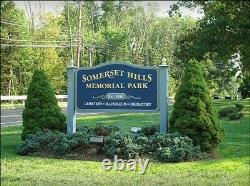 Prime Side-by-Side (2) GRAVE PLOT PAIR Somerset Hills Memorial Park- N. J