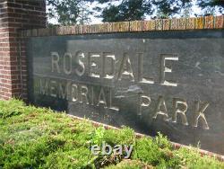 Rosedale Memorial Park plots