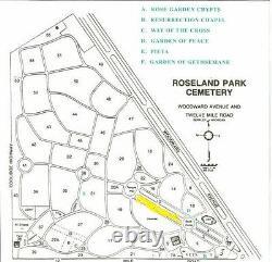 Roseland Park Cemetery, Berkley MI-Six Cemetery Plots (all or split)