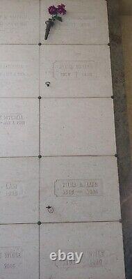 Single Mausoleum Niche at Bellevue Memorial Park, Ontario CA Must Sell