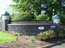 Two Burial plots together, Portland Or. $8,000 (Lincoln Memorial Park)