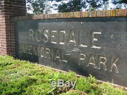 Two burial/cemetery plots Rosedale Memorial Park Bensalem, PA