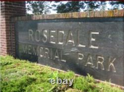 Two burial/cemetery plots Rosedale Memorial Park Bensalem, PA located Section L